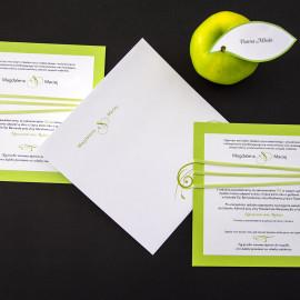 Zaproszenie zielone jabłko
