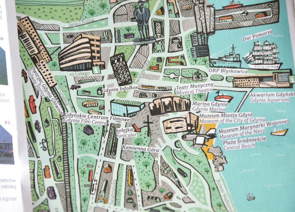 Gdynia – Twoja mapa miasta – ulotka