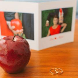 Zaproszenie z jabłkiem